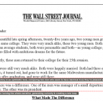 Two Young Men(Wall St. Journal Letter)