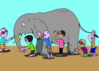 6人の盲人と象