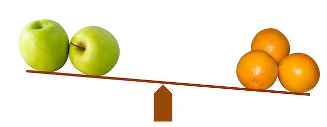 Apple to Orange(リンゴ VS オレンジ)の比較法